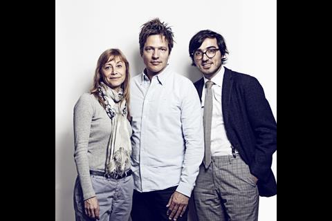 Hanne Palmquist from Nordisk Fond, director Thomas Vinterberg, and Mubi CEO Efe Cakarel